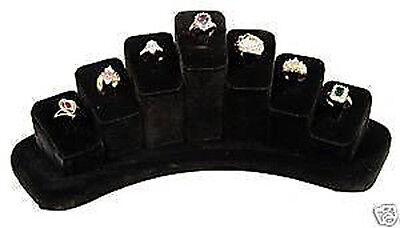 Ring Jewelry Display Black Velvet Sturdy Showcase Countertop Presentation Stand