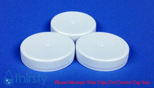 Replacement Water Bottle Caps 3 & 5 Gallon Screw On 48mm (Bag of 3) Aqua Jug USA