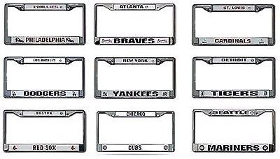 MLB Chrome License Plate Frame by Rico Industries -Select- Team Below