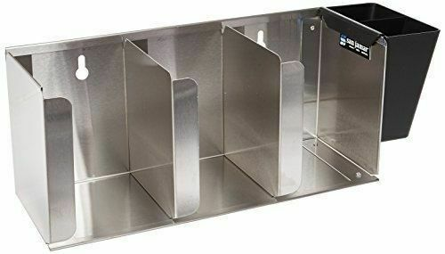 NEW 3 Lid & Straw Dispenser Counter Top Stainless Steel San Jamar L1014 #2416