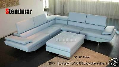 4-Piece Modern Leather Sectional Sofa Set S975C