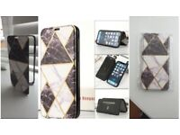 New Black Marble Flip Case Cover for Samsung S21 S20 FE 5g S20 With Clear Back