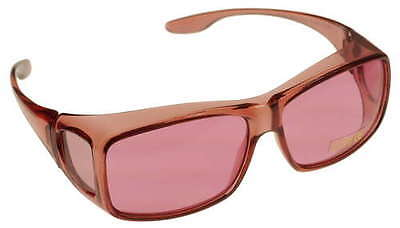 MEDIUM FITS OVER Pink Rose Color Therapy Glasses Poker Sunglasses Mens (Sunglasses Poker)