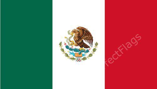 MEXICO FLAG - MEXICAN NATIONAL FLAGS - Hand, 3x2, 5x3, 8x5 Feet