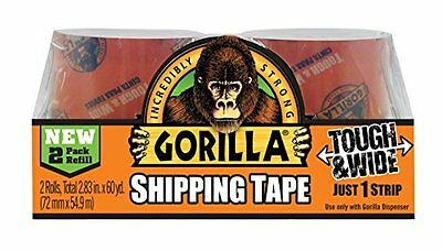 Gorilla Packaging Tape Tough Wide Refill 2.83 X 30 Yd. Pack Of 2