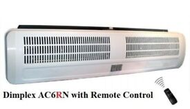 Dimplex AC6RN 6kW Air Curtain Fan Heater Warm Cool 6000W with Remote Control