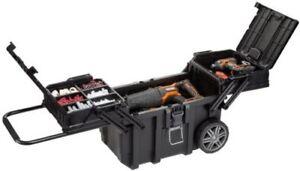 Rolling Tool Box Organizer Portable Workshop Cart Storage Bin Husky 25 in.