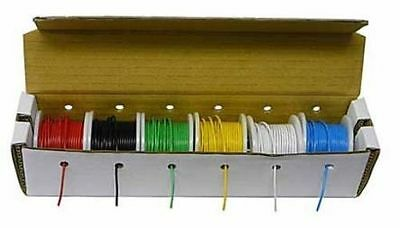 Wk-1022wpy 180 Feet- 7 Colors Solid 22 Awg Hook-up Wire Kit Bulk-no Box