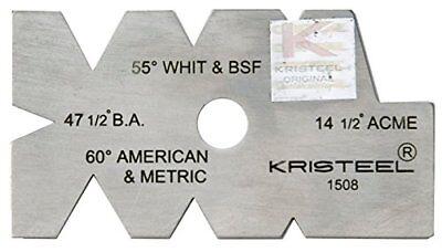 Kristeel Centre Thread Screw Cutter Cutting Pitch Gauge 8 Angle Metric