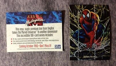 SPIDER-MAN  MARVEL MASTERPIECES 1992 SKYBOX PROTOTYPE PROMO CARD #405