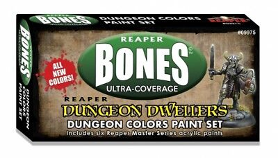 Reaper Mini Dungeon Dwellers Colors Set (6) 09975 Master Series Acrylic Paint - Mini Paint Set