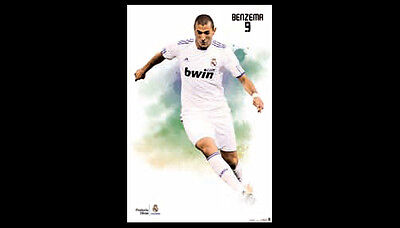 (Real Madrid CF Karim Benzema SUPER-ACTION Official La Liga Spanish Import POSTER)