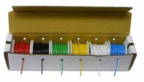 WK-106BK Hook-Up Wire -Solid-22 Gauge-150 ft-Bulk-6 Asst Colors-NO BOX/NO SPOOL