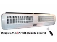 Dimplex AC6RN 6kW Air Curtain Fan Heater Warm Cool 6000W with Remote Control! Delivery Available!
