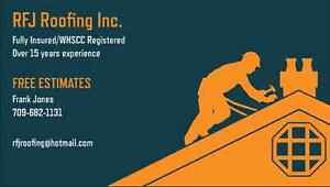 RFJ Roofing Inc. (FREE ESTIMATES) Fully Insured/WHSCC Registered