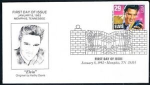 1993-Elvis-Presley-First-Day-Cover-FDC-by-Kathy-Davis-Memphis-Collectibles