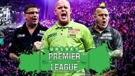 5x Premier League Darts Tickets Rotterdam 19 April