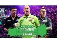 6 x Premier League Darts Tickets - Sheffield - Tickets in Hand - Table seats - Car Park Pass