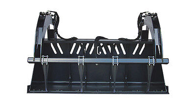 New 7 High Capacity Grapple Bucket Skid Steer Attachment Free Shipping