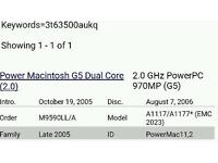 Power Mac G5 spares / Repairs