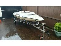 Speed boat and trailer for sale (needs engine)