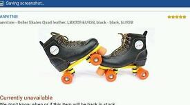 Brand new roller boots with bag size 6
