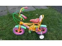 Childs kids bike with stabalisers