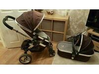 Icandy peach carrycot and seat (no frame)