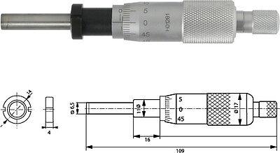 Einbaumessschraube 0-25 mm plan mit Spannmutter, 10-000-250-100-SP