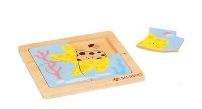 Baby puzzle Dal Negro Welpen 4 in Holz, Neu, Seestern