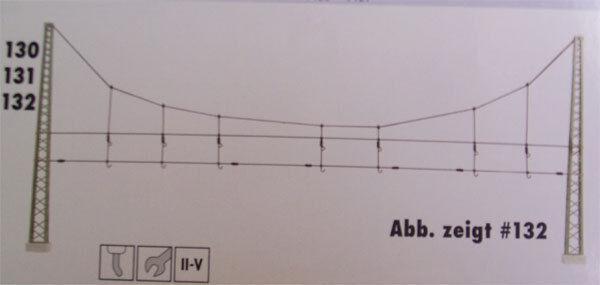 Sommerfeldt Oberleitung Einfach Quertragwerk, Bausatz Nr. 130