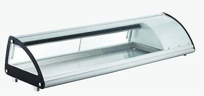 Omcan Rs-cn-0083-sc 58 Refrigerated Curved Glass Sushi Display Case Brand New