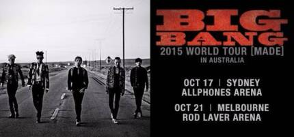 BIG BANG MADE TOUR SYDNEY 17TH OCT X 1 GENERAL ADMISSION TICKET Phillip Woden Valley Preview