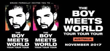 2x GA Standing Drake Tickets - Sydney - 8th November