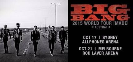 SELLING 2* G.A STANDING TICKETS FOR BIGBANG MADE TOUR SYDNEY City North Canberra Preview