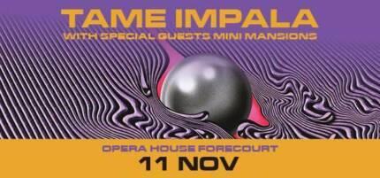 1 x Tame Impala Ticket - Sydney Opera House Forecourt Paddington Eastern Suburbs Preview