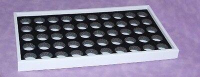 Gem Tray Stackable For 50 Gem Jars Blk Wht Tray