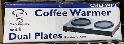 Chefs Supreme Wp2 Stainless Coffee Warmer With Dual Plates
