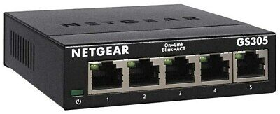 Netgear GS305 Switch 5-Port Gigabit Ethernet / Unmanaged (Switch)