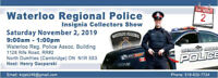 CANADIAN POLICE INSIGNIA COLLECTORS ASSOCIATION SHOW SCHEDULE