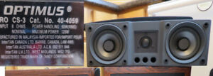3 speakers suitable for surround system