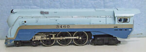 HO model train, Blue Goose Steamer 4-6-4 Pacific, made Rivarossi