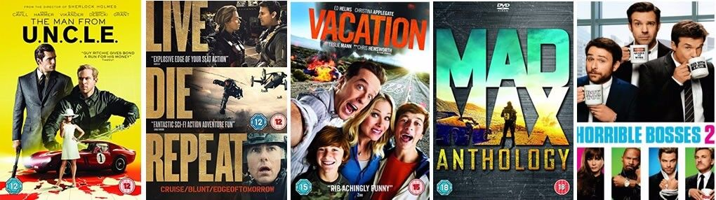 5 DVDs - All new and unopened with the outer packaging intact - £10