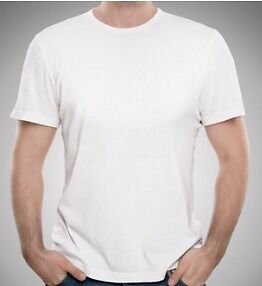 Solid White Plain Crew neck t-shirt - wholesale