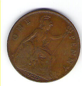 Coin 1920 Great Britain 1 Cent Penny Kingston Kingston Area image 2