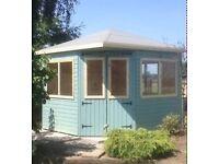 8ft x 8ft corner summerhouse/ shed/ garden shed