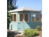 8ft x 8ft summer house/ shed/ garden building