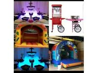 Kids entertainment catering pa system bouncy castles candy floss popcorn chocolate fountains