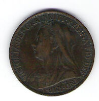 Coin 1898 Great Britain 1 Cent Penny