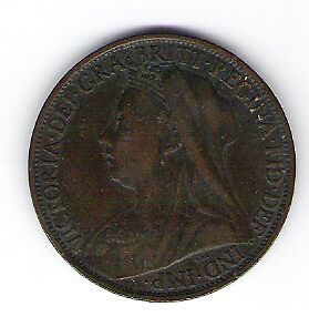 Coin 1898 Great Britain 1 Cent Penny Kingston Kingston Area image 1